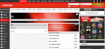 Ladbrokes Webseite
