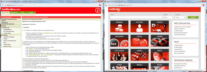 Ladbrokes Support