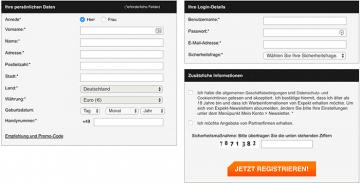 expekt registrierung