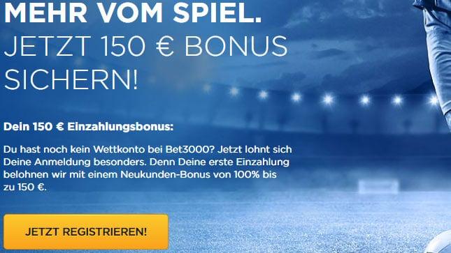 bet3000 Bonus 150€