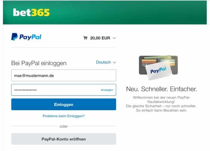 PayPalbet365Einloggenabschließen
