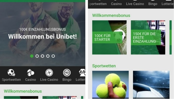 UnibetApp_start
