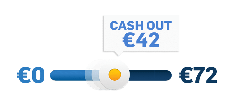 Cash Out Schieberegler