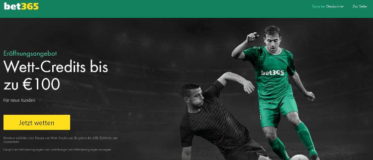 Bet365 Bonus für Sportwetten - Screenshot vom 07.03.2021
