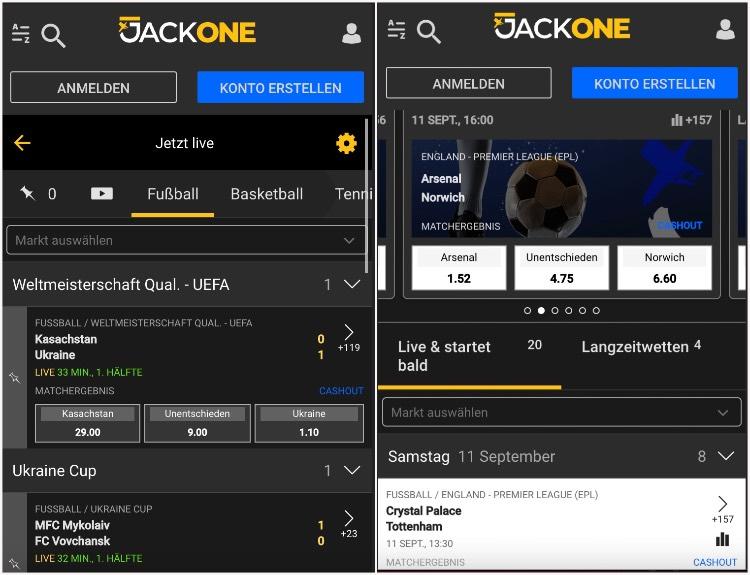 Mobile Web App von JackOne